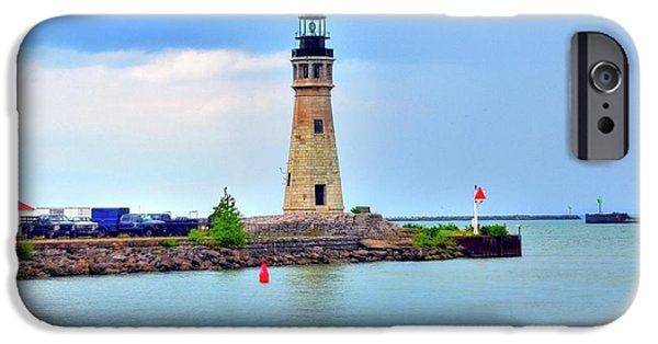 Struckle iPhone Cases - Buffalo Lighthouse iPhone Case by Kathleen Struckle