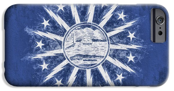 IPhone 6 Case featuring the digital art Buffalo Ny City Flag by JC Findley