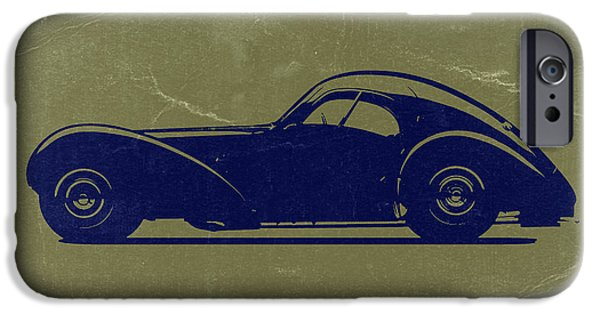 Bugatti Vintage Car iPhone Cases - Bugatti 57 S Atlantic iPhone Case by Naxart Studio