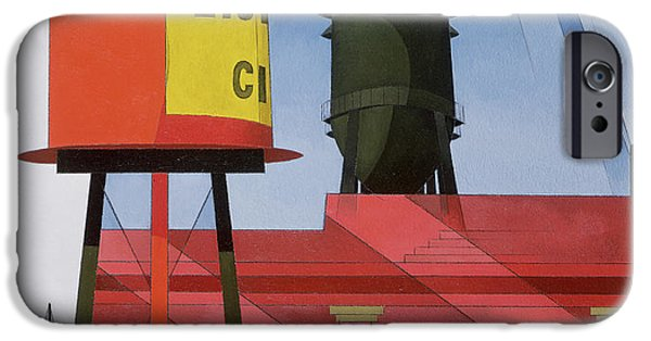 Reservoir iPhone Cases - Buildings Abstraction iPhone Case by Charles Demuth