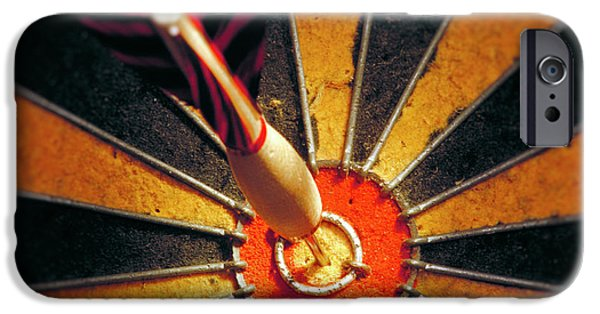 Concept Photographs iPhone Cases - Bulls eye iPhone Case by John Greim