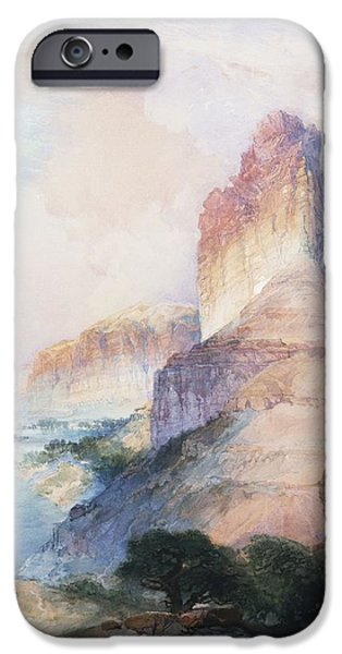 Rural Schools iPhone Cases - Butte Green River Wyoming iPhone Case by Thomas Moran