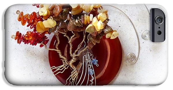 Autumn Jewelry iPhone Cases - By the Rapids iPhone Case by Rhonda Chase