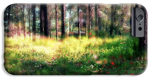 IPhone 6 Case featuring the photograph Cabin In The Woods In Menashe Forest by Dubi Roman