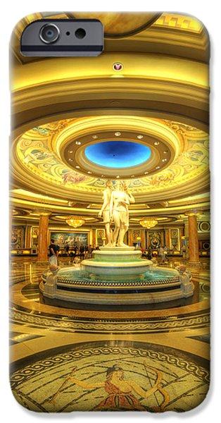 Greek Goddesses iPhone Cases - Caesars Grand Lobby iPhone Case by Yhun Suarez