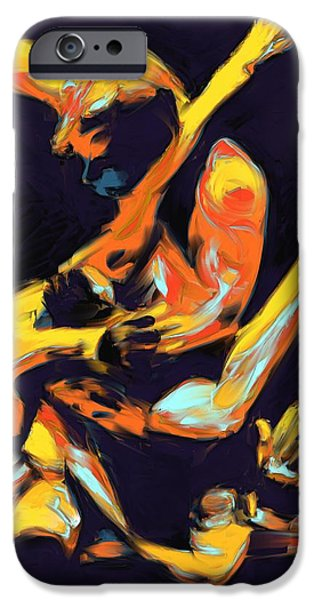 Cage Paintings iPhone Cases - Cage Fighters iPhone Case by Deborah Lee