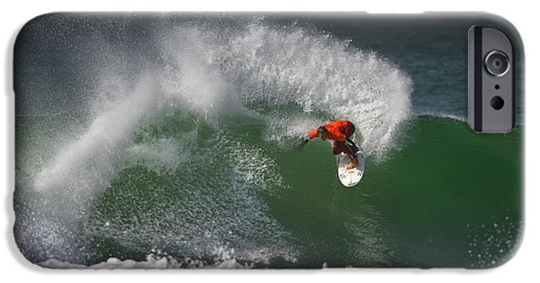 Surfer iPhone Cases - California Surfing 2 iPhone Case by Larry Marshall