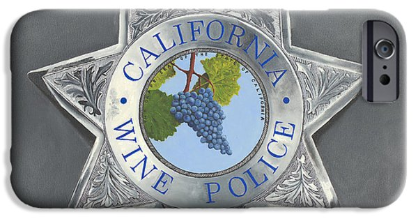 Law Enforcement iPhone Cases - California Wine Police iPhone Case by Tom Swearingen