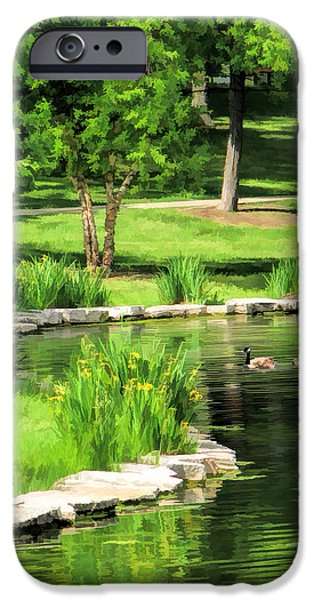 IPhone 6 Case featuring the painting Calm Lake Ellyn by Christopher Arndt
