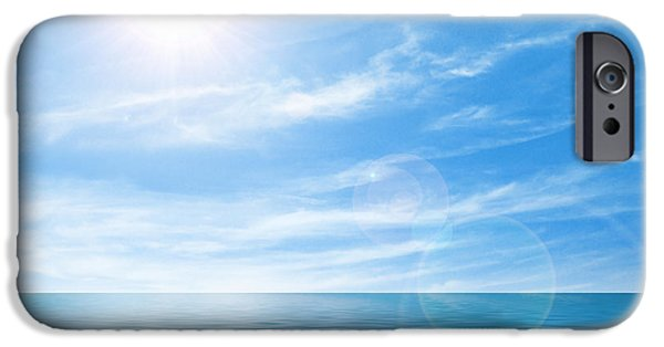Atlantic iPhone Cases - Calm seascape iPhone Case by Carlos Caetano