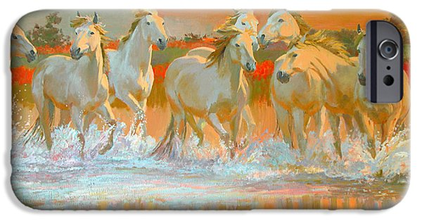 Running iPhone Cases - Camargue  iPhone Case by William Ireland