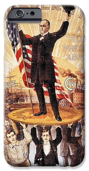 Old Glory iPhone Cases - Campaign Poster, 1896 iPhone Case by Granger