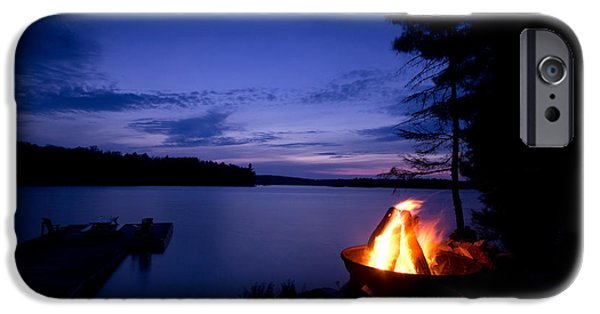 Park Scene iPhone Cases - Campfire iPhone Case by Cale Best