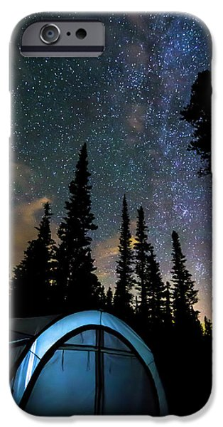 IPhone 6 Case featuring the photograph Camping Star Light Star Bright by James BO Insogna