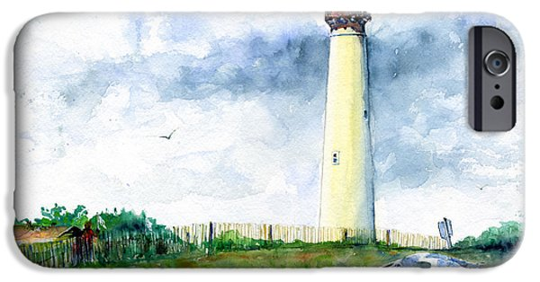 Lighthouse iPhone Cases - Cape May Lighthouse iPhone Case by John D Benson