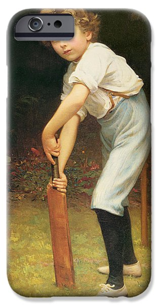 Young iPhone Cases - Captain of the Eleven iPhone Case by Philip Hermogenes Calderon