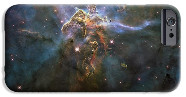 Stellar iPhone Cases - Carina Nebula Star-forming Pillars iPhone Case by Stocktrek Images