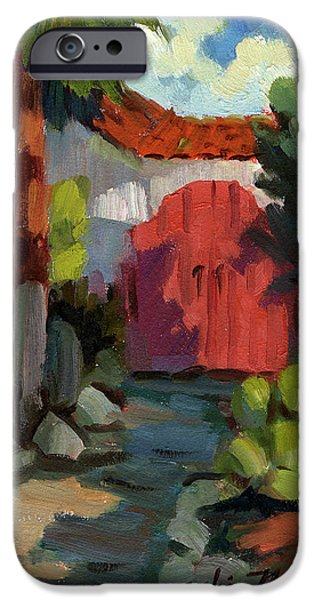 Village iPhone Cases - Casa Tecate Gate iPhone Case by Diane McClary