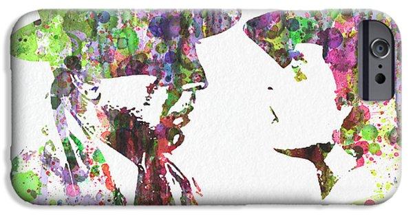 Digital Art Digital Art iPhone Cases - Casablanca 2  iPhone Case by Naxart Studio