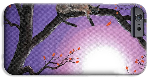 Pagan iPhone Cases - Catch a Falling Leaf iPhone Case by Laura Iverson