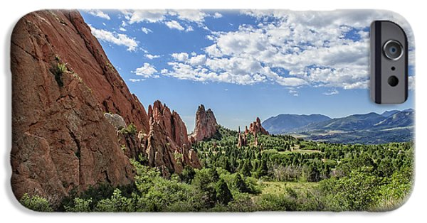 Cathedral Rock iPhone Cases - Cathedral Valley iPhone Case by Charles Dobbs