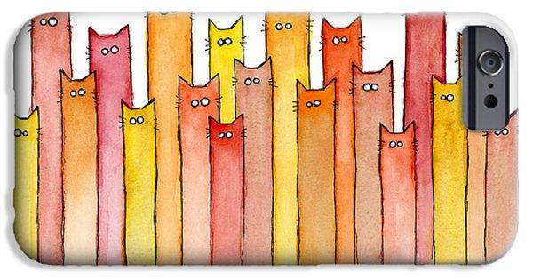 Brown iPhone 6 Case - Cats Autumn Colors by Olga Shvartsur