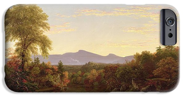 Rural Schools iPhone Cases - Catskill Creek - New York iPhone Case by Thomas Cole