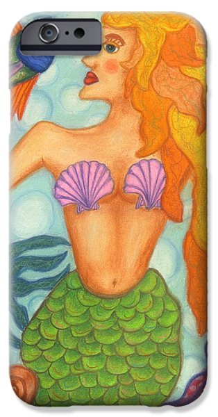Extinct And Mythical Jewelry iPhone Cases - Celeste the Mermaid iPhone Case by Norma Gafford