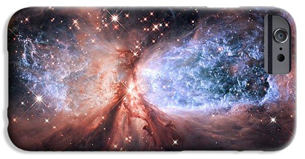 IPhone 6 Case featuring the photograph Celestial Snow Angel - Enhanced - Sharpless 2-106 by Adam Romanowicz