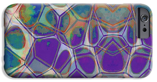 Blue iPhone 6 Case - Cell Abstract 17 by Edward Fielding