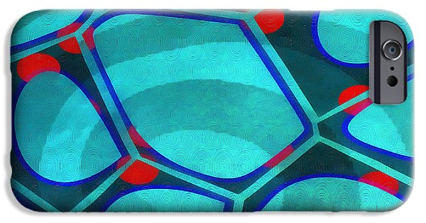 Blue iPhone 6 Case - Cell Abstract 6a by Edward Fielding