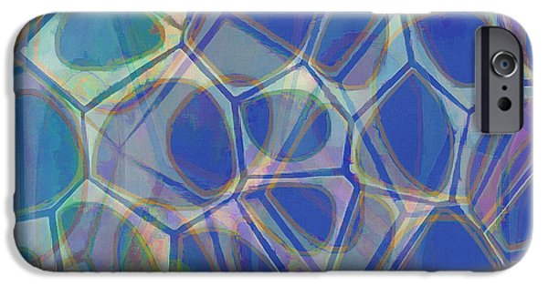 Blue iPhone 6 Case - Cell Abstract One by Edward Fielding