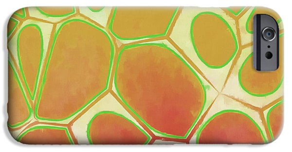 Blue iPhone 6 Case - Cells Abstract Five by Edward Fielding