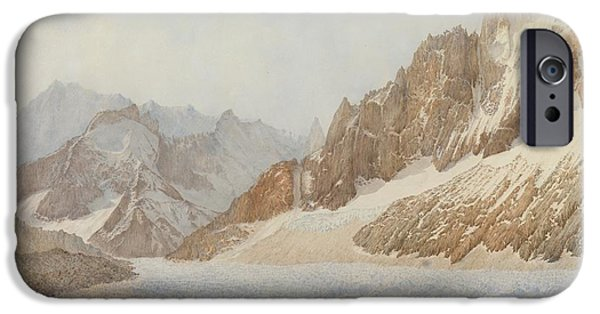 Mountains iPhone Cases - Chamonix iPhone Case by SIL Severn