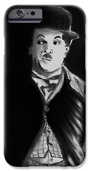 Chaplin iPhone Cases - Charlie iPhone Case by Arline Wagner