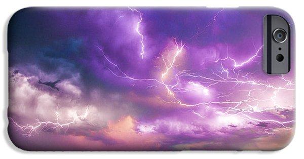 Nebraskasc iPhone 6 Case - Chasing Nebraska Lightning 056 by NebraskaSC
