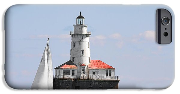 Christine Till iPhone Cases - Chicago Harbor Lighthouse iPhone Case by Christine Till