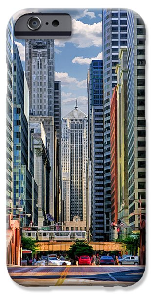 IPhone 6 Case featuring the painting Chicago Lasalle Street by Christopher Arndt