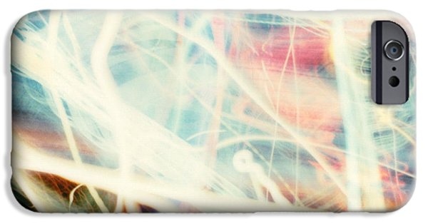 Photo Manipulation Pastels iPhone Cases - Chicago lights 1 iPhone Case by JC Armbruster