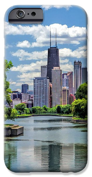 IPhone 6 Case featuring the painting Chicago Lincoln Park Lagoon by Christopher Arndt