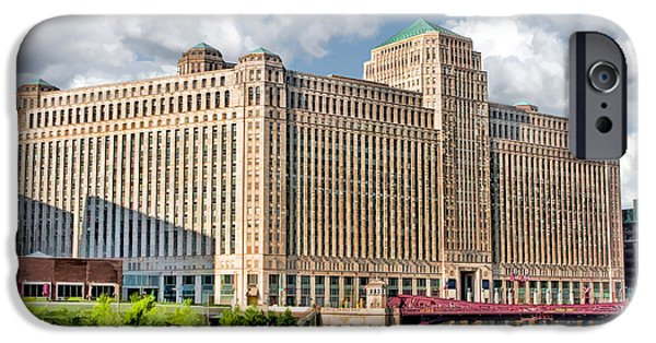 IPhone 6 Case featuring the painting Chicago Merchandise Mart by Christopher Arndt