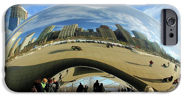 The Bean iPhone Cases - Chicago Reflected iPhone Case by Kristin Elmquist