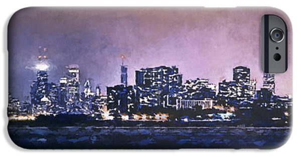 Sears Tower iPhone Cases - Chicago Skyline from Evanston iPhone Case by Scott Norris