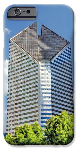 IPhone 6 Case featuring the painting Chicago Smurfit-stone Building by Christopher Arndt