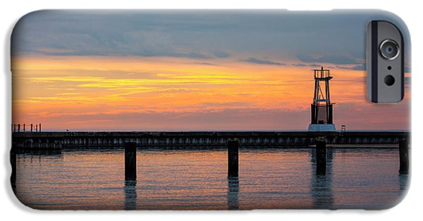 IPhone 6 Case featuring the photograph Chicago Sunrise At North Ave. Beach by Adam Romanowicz