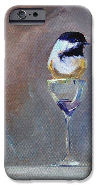 Chickadee Wine IPhone 6 Case by Nancy Merkle