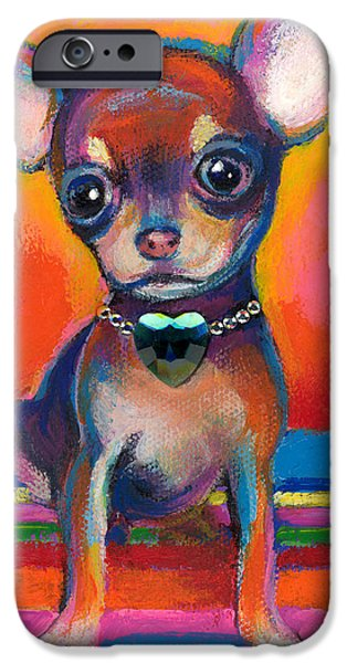Cute Puppy iPhone Cases - Chihuahua dog portrait iPhone Case by Svetlana Novikova