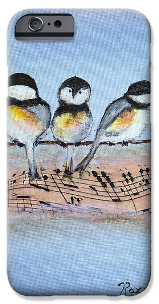 Chirpy Chickadees IPhone 6 Case by Roxy Rich