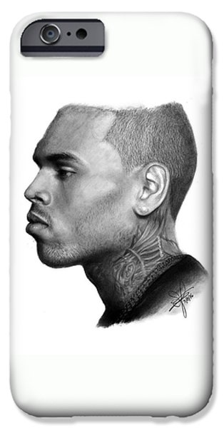 Chris Brown Drawing By Sofia Furniel IPhone 6 Case