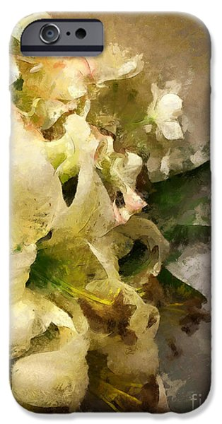 Christmas White Flowers IPhone 6 Case